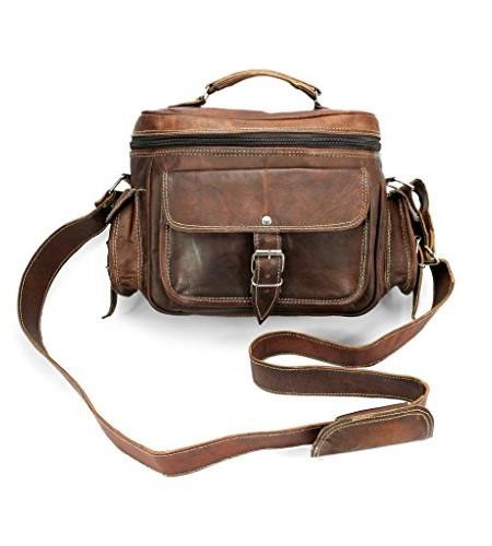AP-Donovan-Handgearbeitete-Leder-Kameratasche-aus-Echtleder-mit-Riemen-zum-Umhngen-gratis-Lederpflege-0