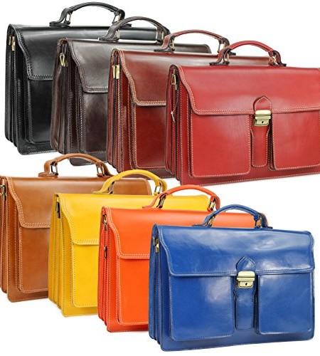 BELLI-Design-Bag-B-ital-Leder-Businesstasche-Aktentasche-Lehrertasche-unisex-Farbauswahl-40x30x14-cm-B-x-H-x-T-0