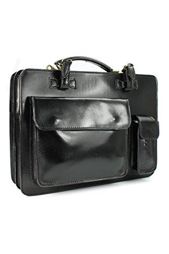 Belli-Design-Bag-Voll-Leder-Echt-Leder-Businesstasche-schwarz-DIN-A4-geeignet-39x29x11-cm-B-x-H-x-T-0