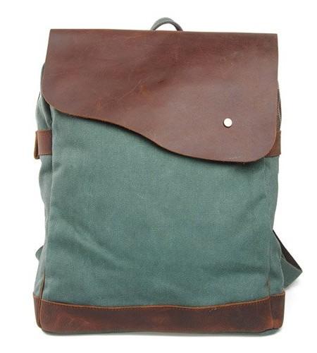 Canvas-Leder-Rucksack-Backpack-fr-Uni-laptop-Rucksack-Reisetasche38-x-33-x-14cmH-x-B-x-T-0