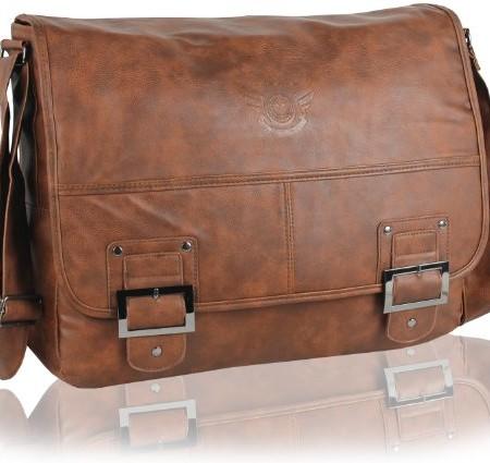 DANIEL-RAY-Umhngetasche-HAVANNA-Schultertasche-Laptop-Tasche-Messenger-Schultasche-Cognac-0