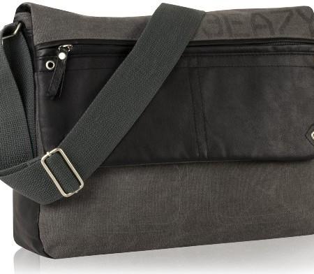 DANIEL-RAY-Umhngetasche-NEVADA-L-Schultertasche-Laptop-Tasche-Anthrazit-0