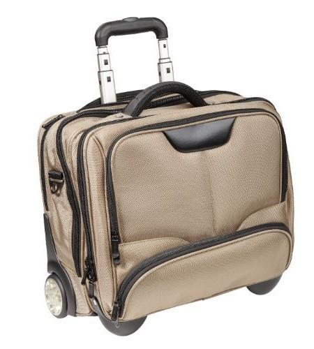 DERMATA-Notebooktasche-Notebooktrolley-17-Zoll-Pilotenkoffer-Trolley-Laptop-max-41-x-29-cm-mit-Schultergurt-Champagner-Beige-0