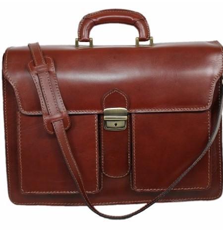 Italy-Leder-Aktentasche-MARRONE-Aktenkoffer-Business-Lehrer-Tasche-02032-0