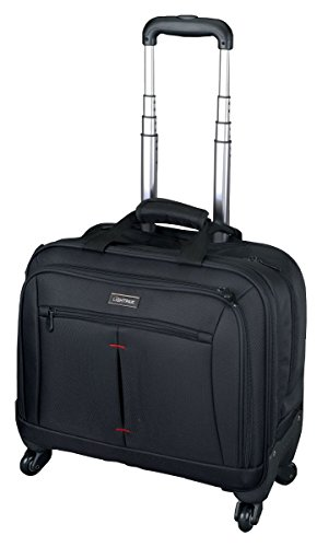 Lightpak-Laptop-Rollkoffer-Business-Trolley-Star-Nylon-4257-Liters-Schwarz-0