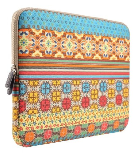 PLEMO-Bohme-Stil-Canvas-Gewebe-Hlle-Sleeve-Tasche-fr-Netbook-Laptop-Notebook-Computer-MacBook-MacBook-Pro-MacBook-Air-0