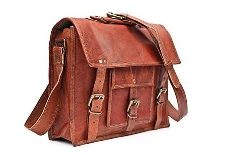 Shopping-Bazar-Weinlese-Leder-Laptop-Tasche-15-Bote-Handmade-Aktentasche-Crossbody-Umhngetasche-0