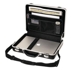 Aktenkoffer Hartschale Aluminium für Dokumente und Notebook