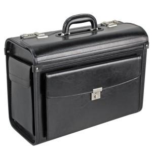 Dermata Pilotenkoffer Leder 45 cm schwarz
