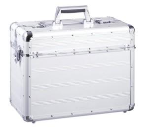 Pilotenkoffer / Aktenkoffer mit Schultergurt aus Aluminium