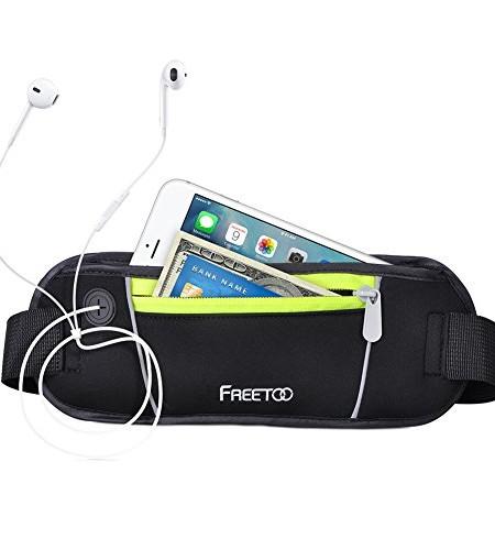 Sport-Hfttasche-FREETOO-Grteltasche-2-Pocket-Kapazitt-Geeignet-fr-Phone-iPod-Exklusive-ffnung-fr-Kopfhrer-Kabel-und-Reflexstreifen-fr-Nachtsichtbarkeit-zum-Laufen-und-Reisen-Entwickelt-0