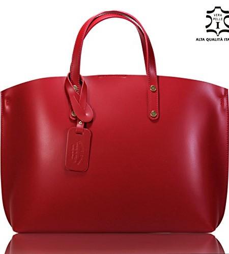 100-ECHTES-LEDER-Handtasche-LUXUS-CITY-BAG-Shopper-kuhleder-rindsleder-Damen-Henkeltaschen-Schultertaschen-Umhngetaschen-Glattleder-Business-Akten-Laptoptasche-rot-HOBO-GRANAT-Dunkelrot-0