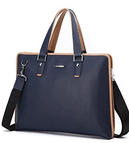 Everdoss-Herren-Leder-Aktentasche-Businesstasche-Handtasche-Umhngetasche-Kuriertaschen-Brotasche-0