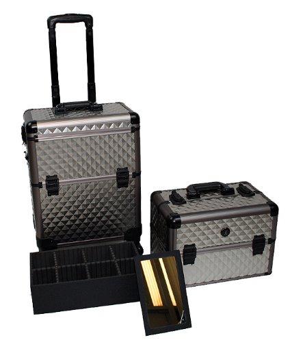 friseurkoffer alu trolley visagistenkoffer beautykoffer mit 4 rollen rundum leichtlauffahrwerk. Black Bedroom Furniture Sets. Home Design Ideas