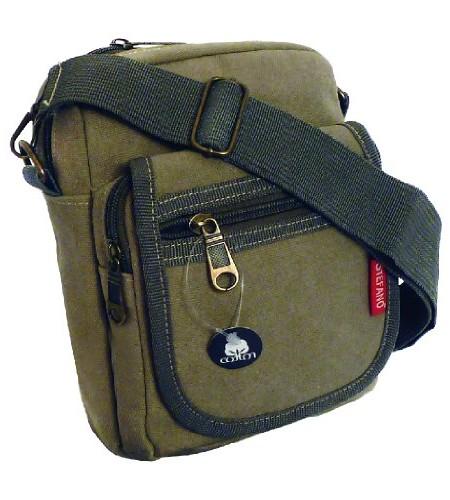 Sportliche-Canvas-Umhngetasche-Grteltasche-Handtasche-von-STEFANO-sand-0
