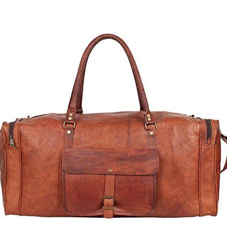 Braun-Leder-Duffel-Bag-Travel-Bags-Weekender-Tasche-fr-Herren-von-Rustikal-Town-0