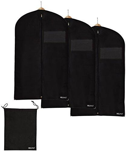 3x-Premium-KleidersackAnzugsack-100-x-60-cm-inkl-kostenlosem-Schuhbeutel-hochwertige-KleiderhlleAnzughlle-aus-atmungsaktivem-Material-erstklassiger-Schutz-fr-Ihre-Anzge-und-Kleider-0