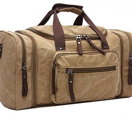 Aidonger-Unisex-Canvas-Grorumige-Handtasche-Schultertasche-Reisetasche-Khaki-0
