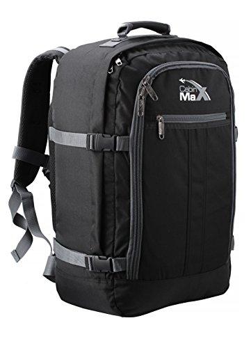 Cabin-Max-Metz-Flugzugelassenes-Backpack-Gro-leichtgewicht-Handgepckstck-55x40x20cm-BlackGrey-0