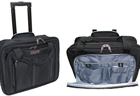 432-cm-Aerolite-Cabin-Gre-Laptop-Tasche-mit-Rdern-Roller-Fall-Business-Rolling-Carry-On-Trolley-schwarz-0