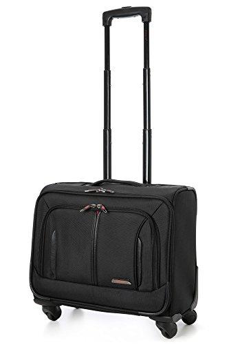 Aerolite-18-4-Wheel-Spinner-Vorstand-Mobile-Office-Business-Hand-Kabine-Gepck-Koffer-Laptop-Tasche-Zugelassen-fr-Easyjet-BA-Jet2-Schwarz-0