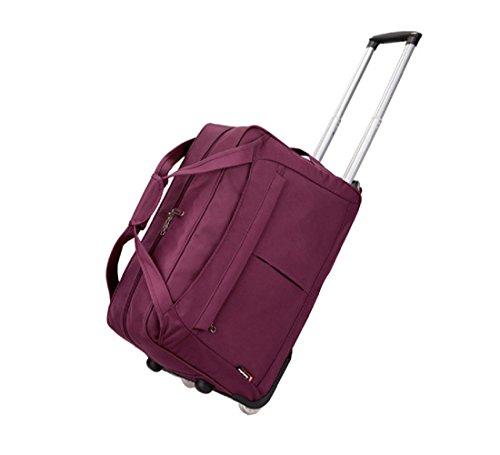 reisetasche mit rollen laptoptasche mit r dern gro e kapazit t reisetrolley nylon wasserdicht. Black Bedroom Furniture Sets. Home Design Ideas