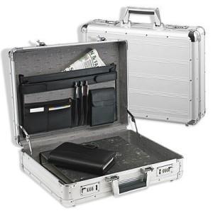 Attache Aktenkoffer Hartschale Aluminium passend für DIN A4 Ordner