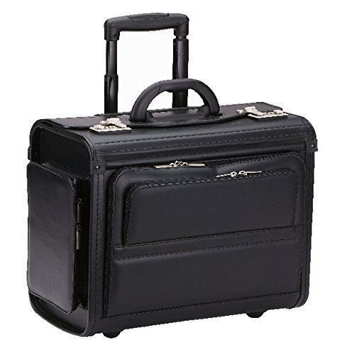 dermata pilotenkoffer trolley 46 cm laptopfach schwarz. Black Bedroom Furniture Sets. Home Design Ideas