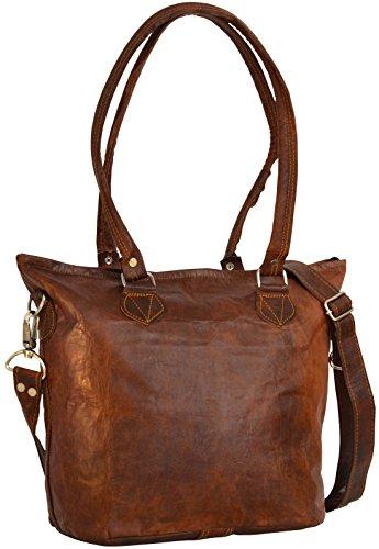 """Kauf echt doppelter gutschein verschiedenes Design Umhängetasche Leder Gusti nature """"Therese"""" Handtasche Braun ..."""