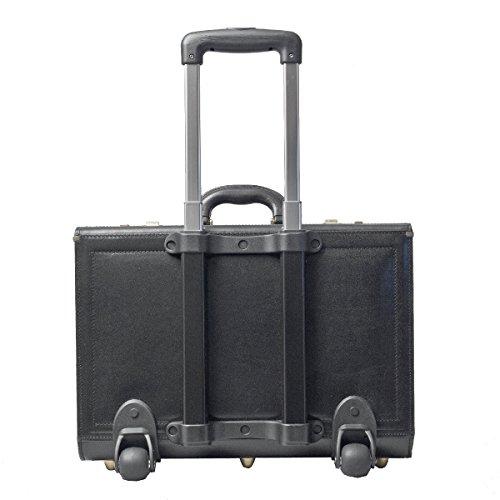 maxwell scott luxus trolley pilotenkoffer aus schwarzem. Black Bedroom Furniture Sets. Home Design Ideas