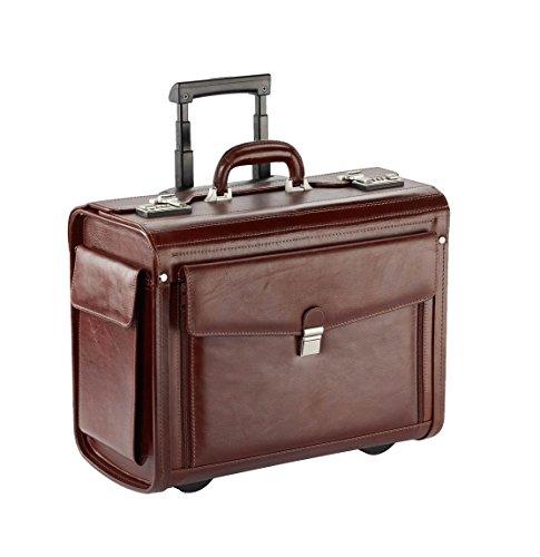 pilotenkoffer trolley 1 d340a cognac rindleder luxus f r. Black Bedroom Furniture Sets. Home Design Ideas