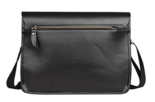 6a23115fefe54 sulandy  Fashion Herren Leder mit Leinwand Umhängetasche Tasche Mann  Business Casual Laptop Bag Aktentasche Leder Umhängetasche