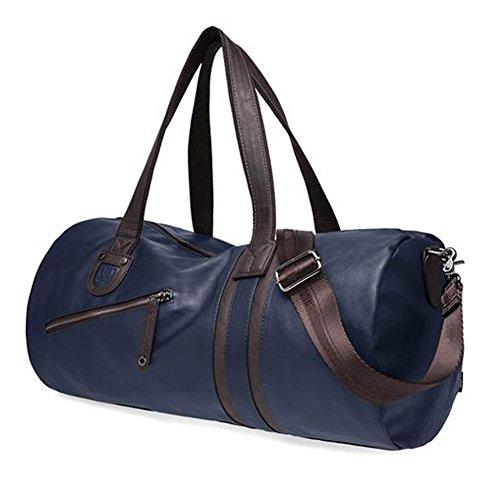 everdoss herren damen pu leder sporttasche fitnesstasche handtasche trainingstasche reisetasche. Black Bedroom Furniture Sets. Home Design Ideas