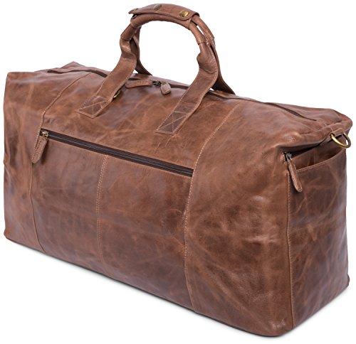 leabags sydney reisetasche aus echtem b ffel leder im vintage look crazyvinkat. Black Bedroom Furniture Sets. Home Design Ideas