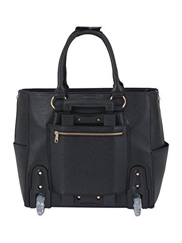 damen trolley handtasche brieftasche mit rollen f r. Black Bedroom Furniture Sets. Home Design Ideas