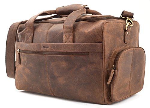 leabags oslo reisetasche aus echtem b ffel leder im. Black Bedroom Furniture Sets. Home Design Ideas