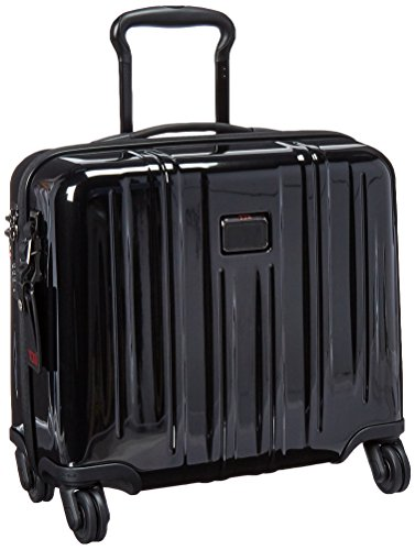 tumi v3 kompakte aktentasche auf 4 rollen in handgep ckgr sse 24 liter schwarz 228004. Black Bedroom Furniture Sets. Home Design Ideas